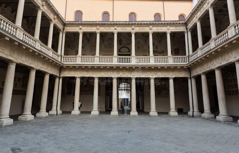 Palazzo Bo, historical building home of the Padova University from 1539, in Padua. Italy royalty free stock photo