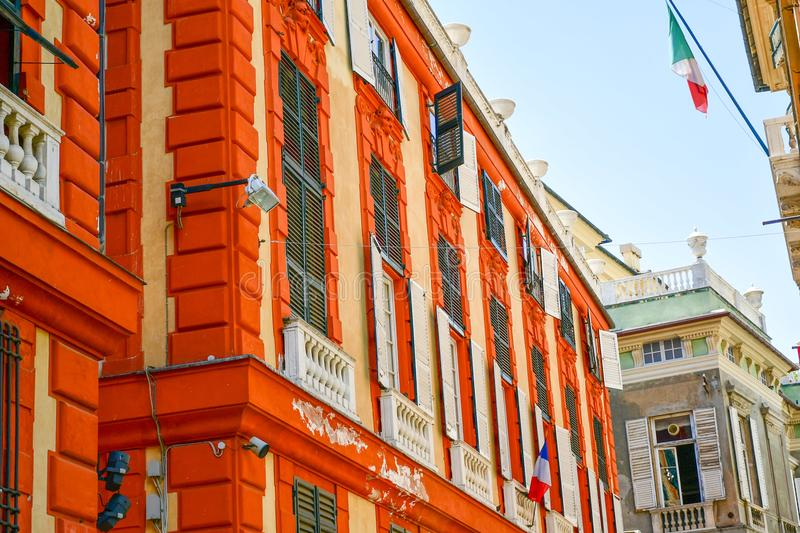Palazzo Rosso ,Genoa , Italy. The Palazzo Brignole Sale or Palazzo Rosso is a house museum located in Via Garibaldi, in the historical center of Genoa.Built in royalty free stock photos