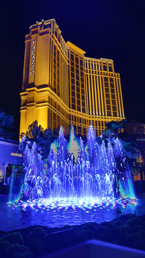 Palazzo Casino. Las Vegas, Palazzo Casino , overview, evening stock images