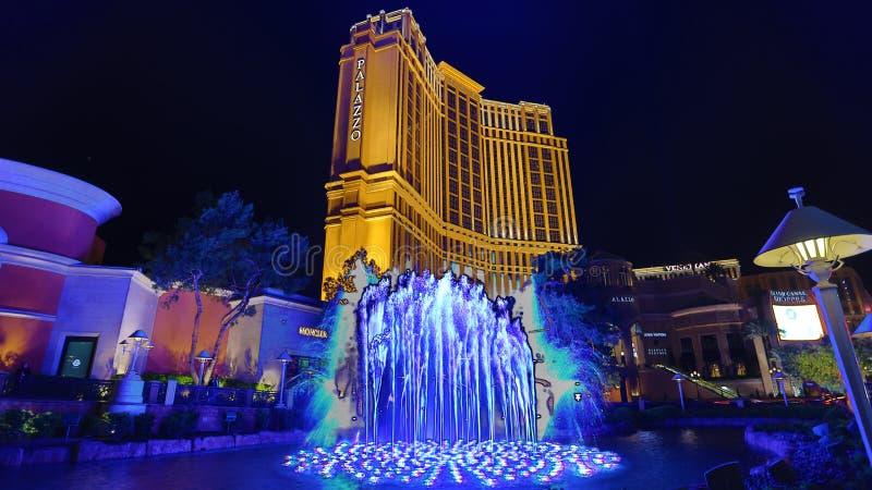 Palazzo Casino. Las Vegas, Palazzo Casino , overview, evening royalty free stock photos