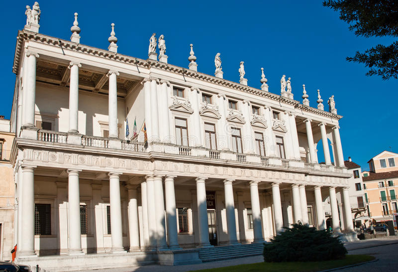 Palazzo Chiericati à Vicence photographie stock