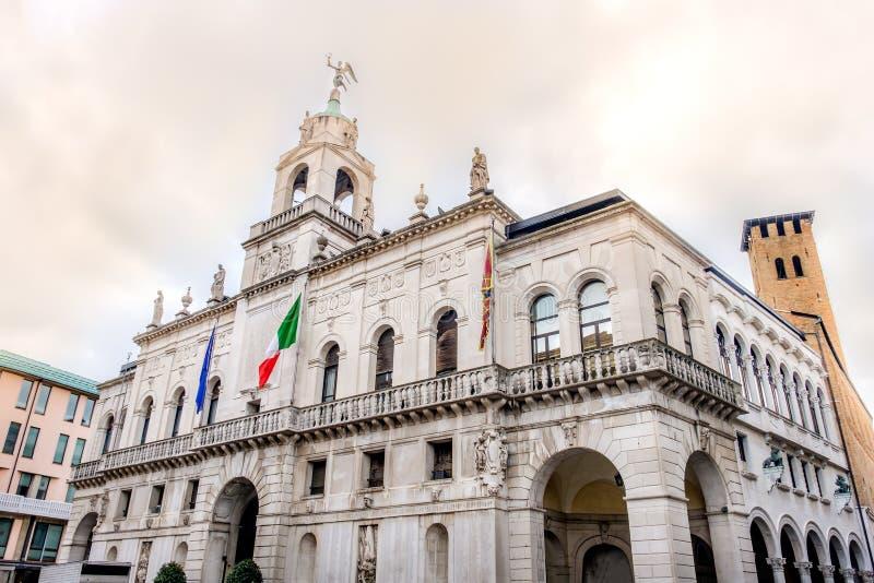 Palazzo Comunale ou Palazzo Moroni à Padoue - Vénétie - en Italie photographie stock