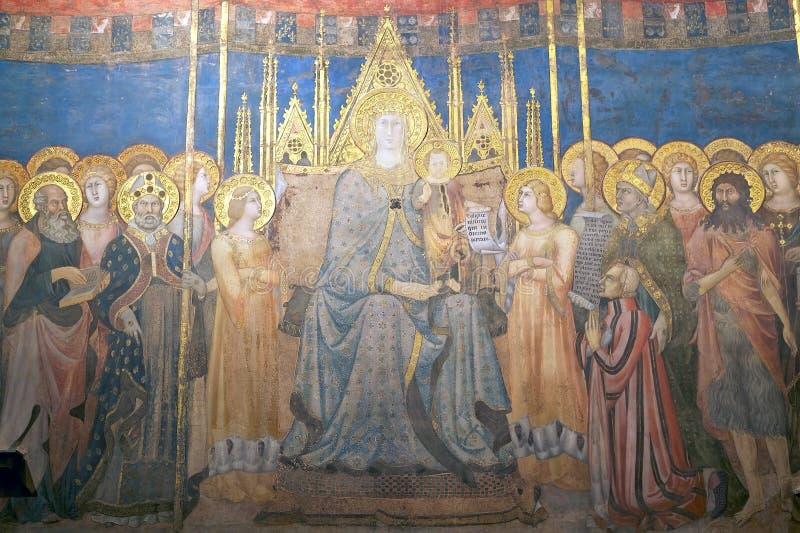 Palazzo Comunale, San Gimignano, Toscanië, Italië stock afbeeldingen