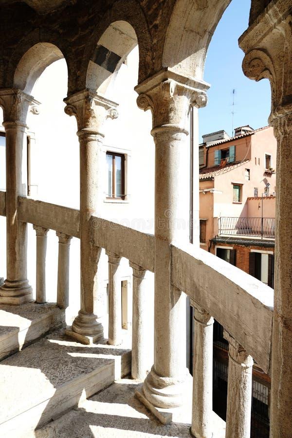 Palazzo Contarini del Bovolo著名staicase在威尼斯,意大利 免版税图库摄影