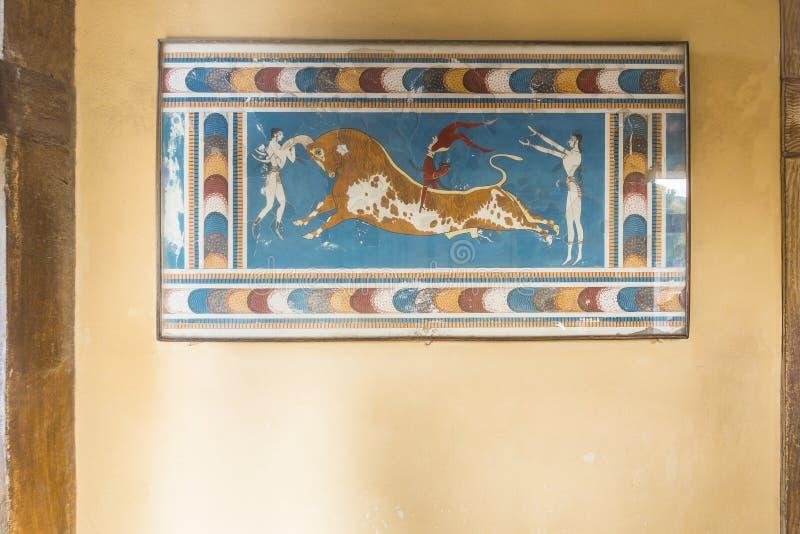 Palazzo Creta di Cnosso immagini stock libere da diritti