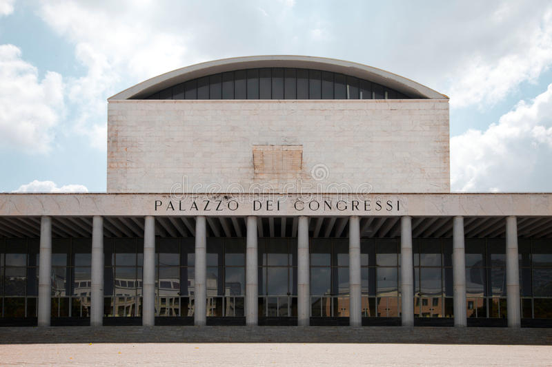 Download Palazzo dei Congressi stock image. Image of place, work - 33282663