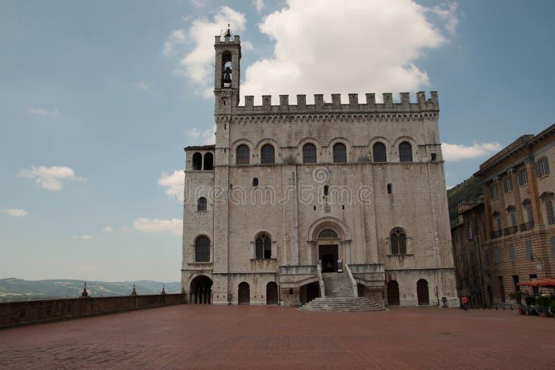 Palazzo dei Consoli w środkowym Gubbio, Włochy zdjęcia royalty free
