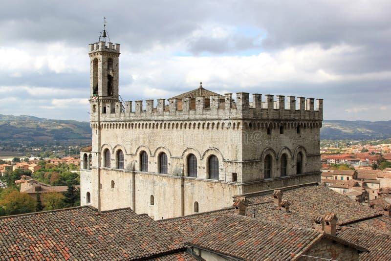 Palazzo dei Consoli w Gubbio, Włochy zdjęcie stock