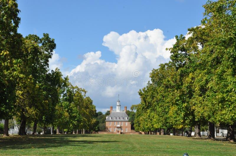 Palazzo dei governatori in Wlliamsburg, la Virginia fotografie stock libere da diritti