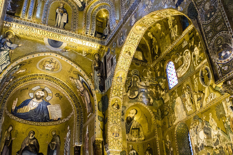 Palazzo dei Normanni - Palermo - Capella Palatina - Sicily - Italy royalty free stock image
