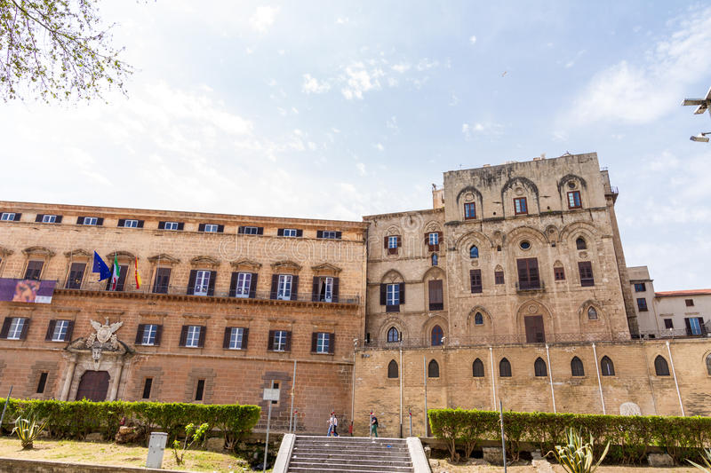 Palazzo dei Normanni in Palermo, Italy stock photography
