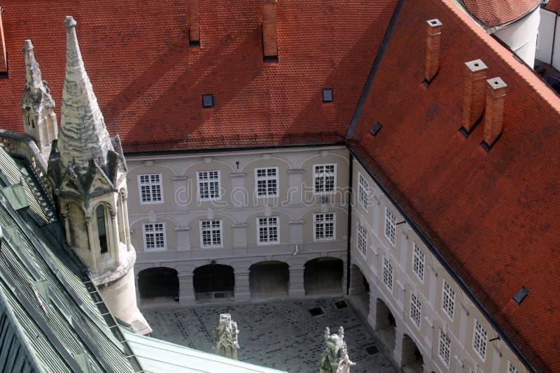 Palazzo dei vescovi a Zagabria fotografia stock