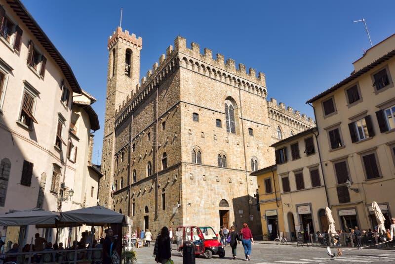 Palazzo del Bargello在佛罗伦萨,意大利 免版税库存图片
