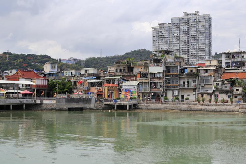 Palazzo del chaozonggong di taoismo dalla baia di shapowei, adobe rgb fotografia stock