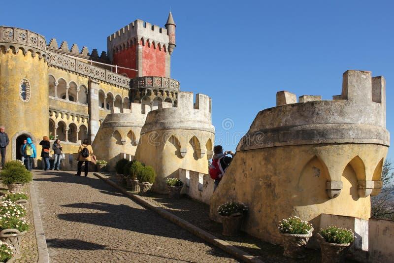 Palazzo del Da Pena. Sintra. Il Portogallo fotografie stock