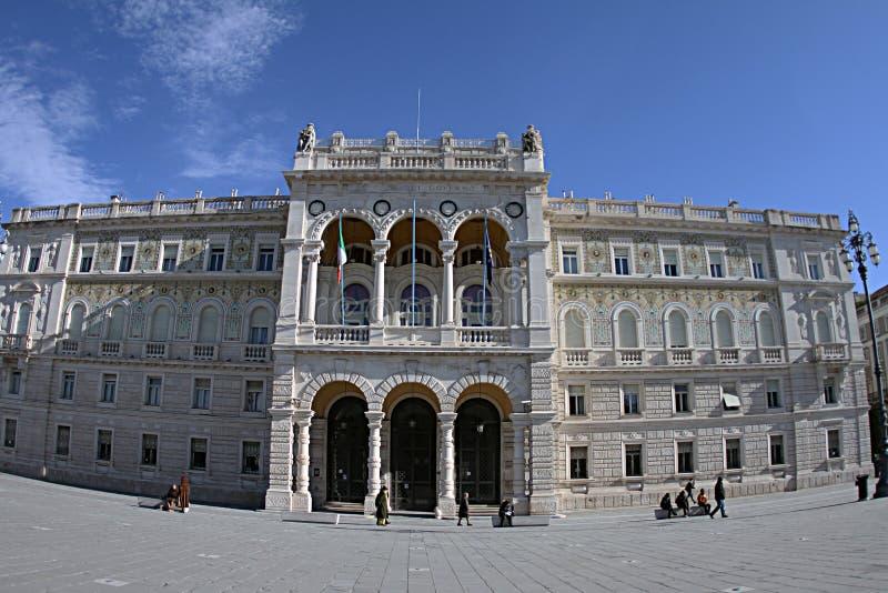 Palazzo del Governo Italian θαλάσσιος λιμένας της Τεργέστης 2019 στοκ εικόνα