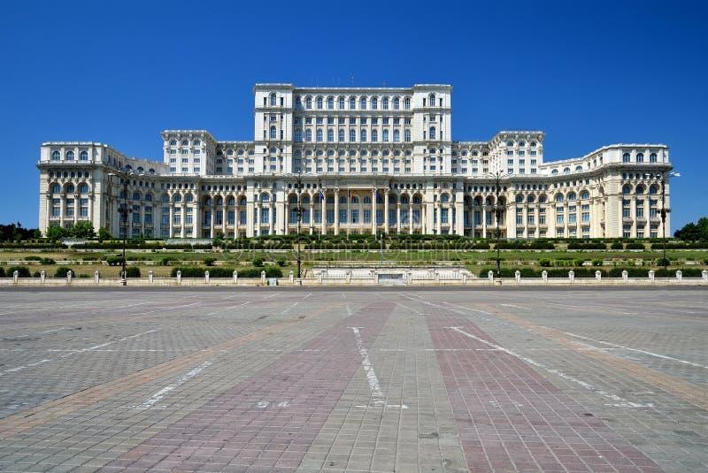 Palazzo del Parlamento, Bucarest, Romania fotografia stock libera da diritti