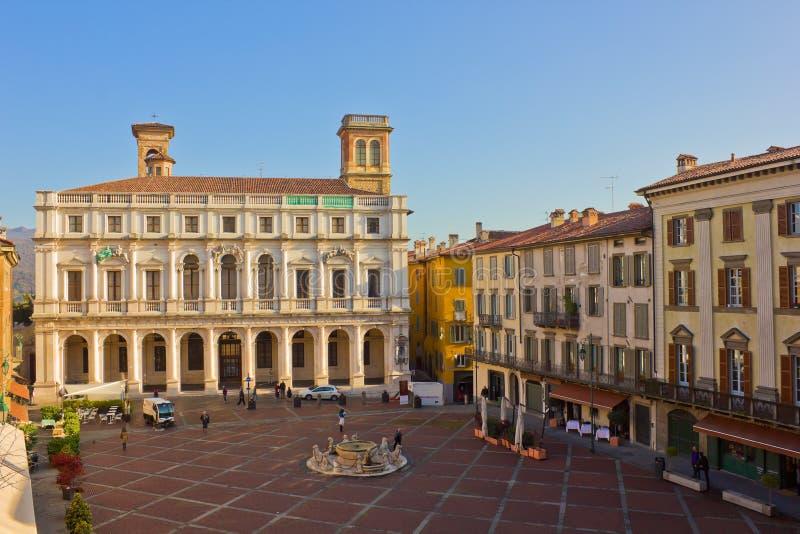 Palazzo del Podesta, Bergame, Italie photos stock
