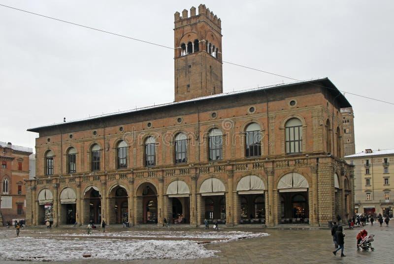 Palazzo Del Podesta ist ein bürgerliches Gebäude im Bologna stockfotografie