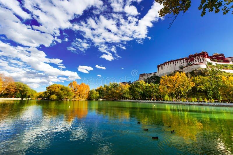 Palazzo del Potala, nel Tibet della Cina fotografie stock libere da diritti