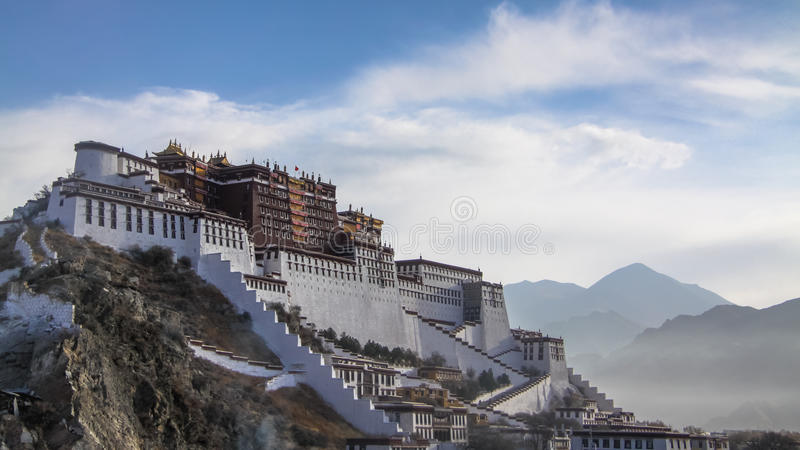 Palazzo del Potala, Tibet fotografia stock libera da diritti
