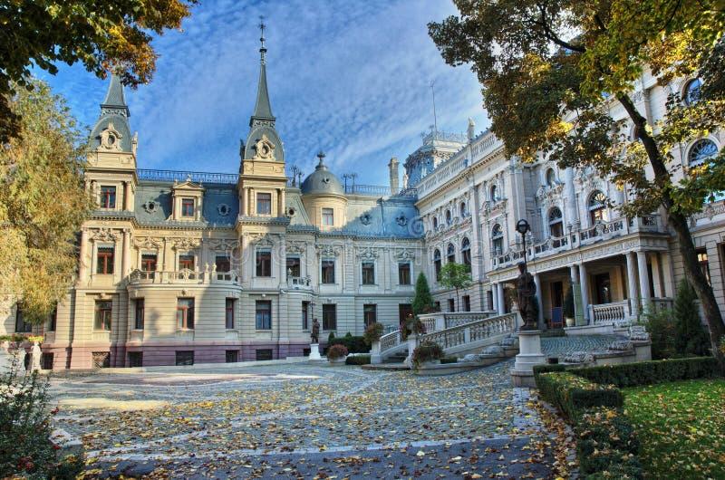 Palazzo del Poznanski a Lodz, Polonia fotografia stock libera da diritti