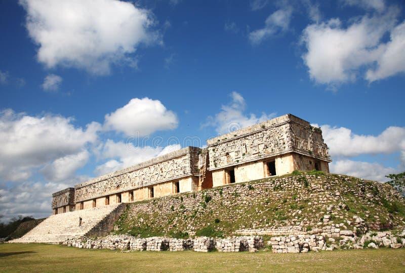 Palazzo del regolatore di Uxmal, Messico fotografie stock libere da diritti