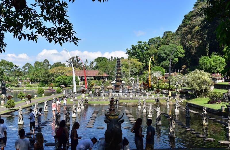 Palazzo dell'acqua di Tirta Gangga in Bali immagine stock