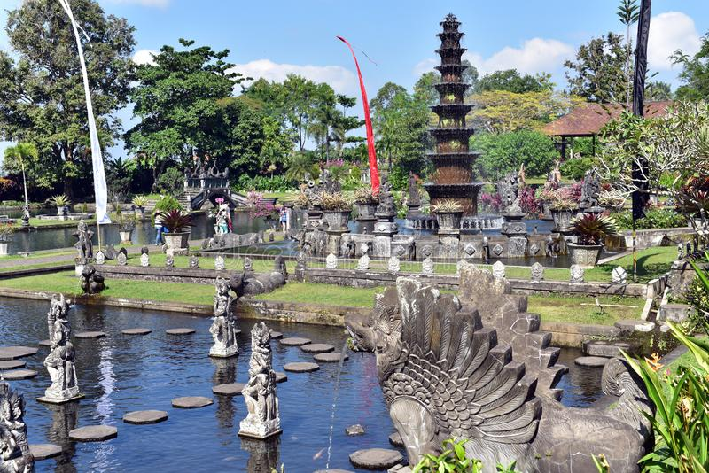 Palazzo dell'acqua di Tirta Gangga in Bali immagini stock