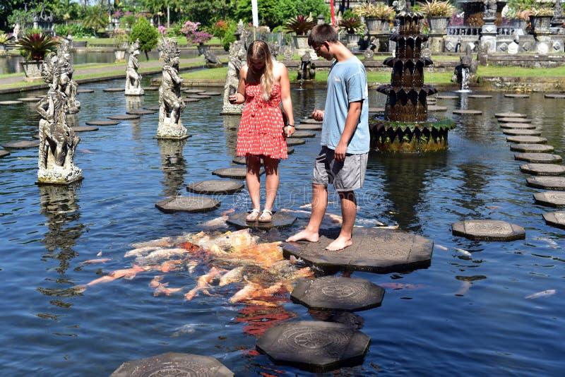 Palazzo dell'acqua di Tirta Gangga in Bali immagine stock libera da diritti