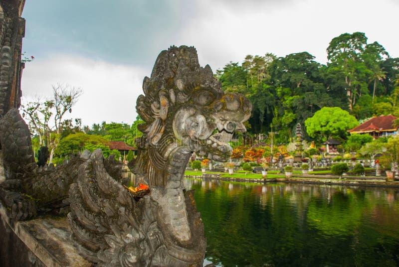 Palazzo dell'acqua di Tirta Gangga in Bali orientale, Karangasem, Indonesia immagine stock libera da diritti