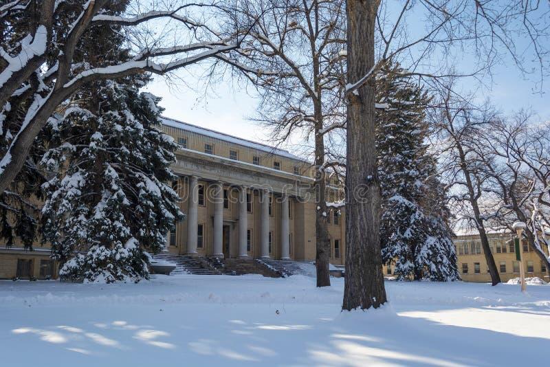 Palazzo dell'Amministrazione Statale dell'Università Statale del Colorado a Fort Collins, Colorado fotografia stock