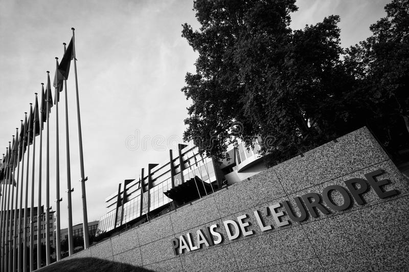 Palazzo Dell Europa A Strasburgo Fotografia Stock Libera da Diritti