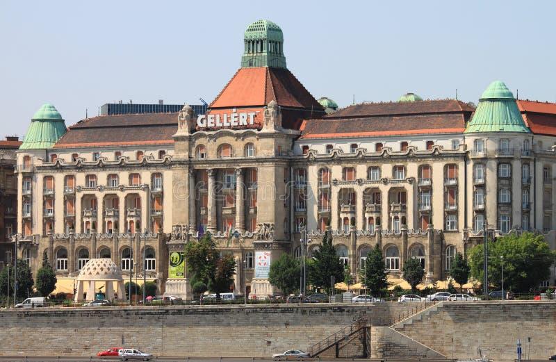 Palazzo dell'hotel di Gellert a Budapest fotografia stock