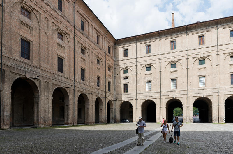 Palazzo della安置Farnese剧院和natio的Pillotta 免版税库存图片