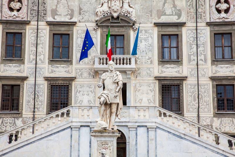 Palazzo della Carovana lokalizować przy pałac w rycerzach Obciosuje w Pisa obraz stock