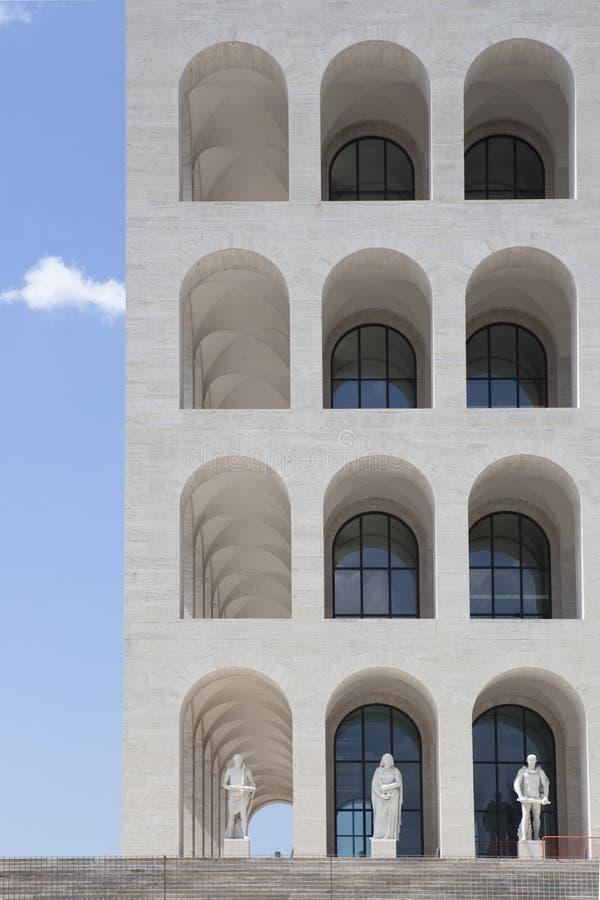 Palazzo della Civiltà Italiana royalty free stock photo