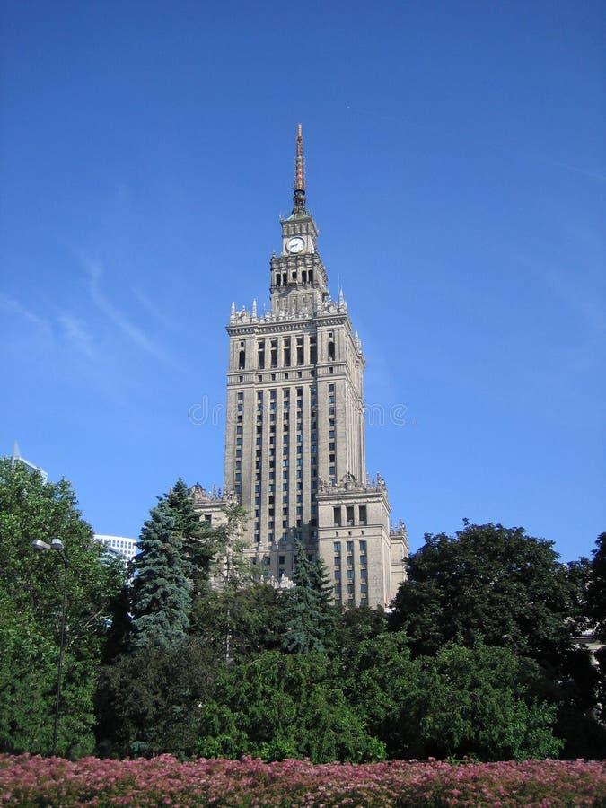 Palazzo della coltura a Varsavia fotografie stock libere da diritti