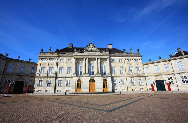 Palazzo della Danimarca fotografia stock libera da diritti