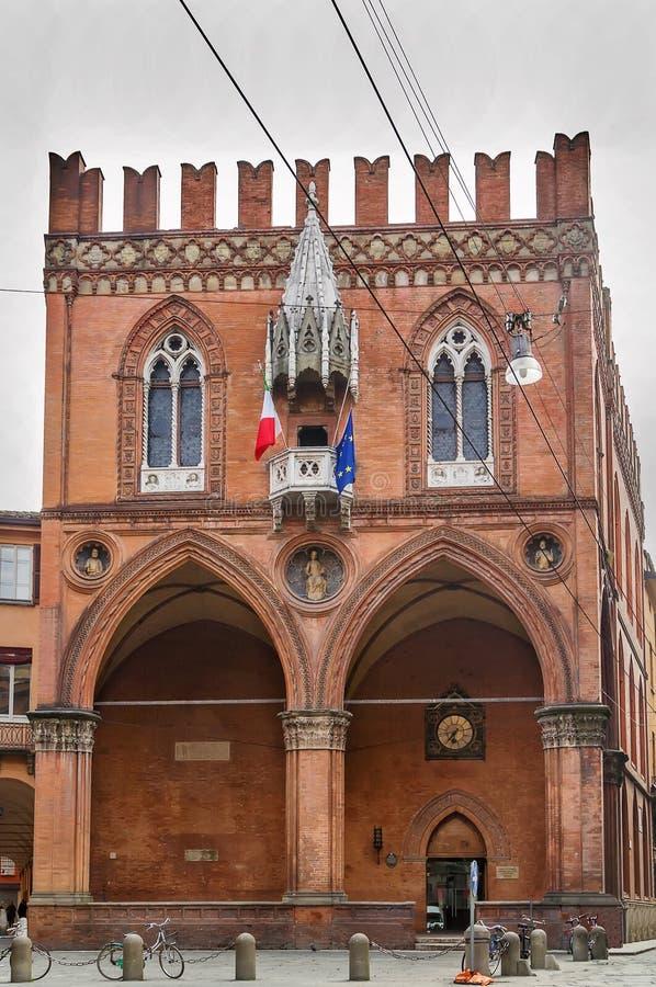 Palazzo della Mercanzia, Bologna, Italien royaltyfri bild