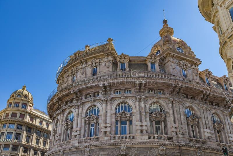 Palazzo della Nuova Borsa in Genoa. View at Palazzo della Nuova Borsa in Genoa, Italy stock images