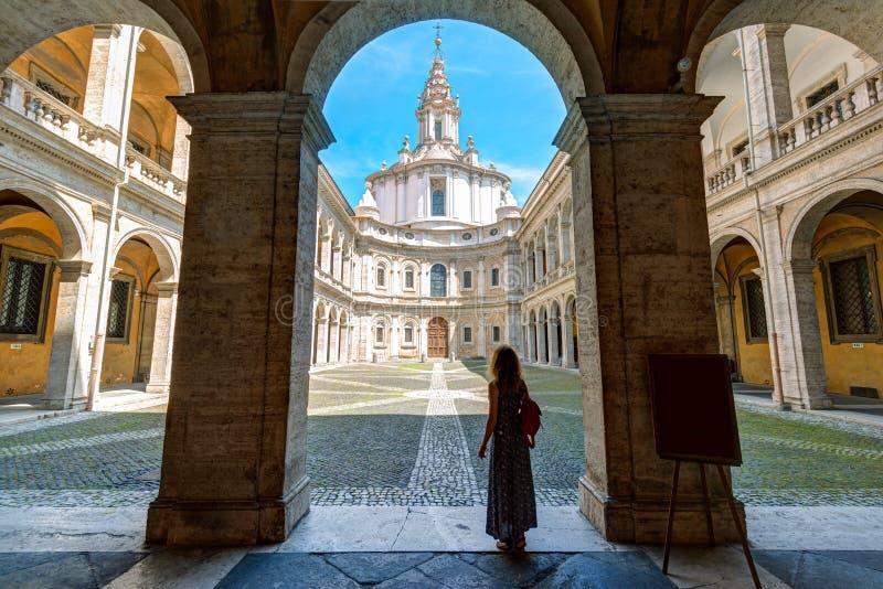 Palazzo della Sapienza在罗马 库存图片