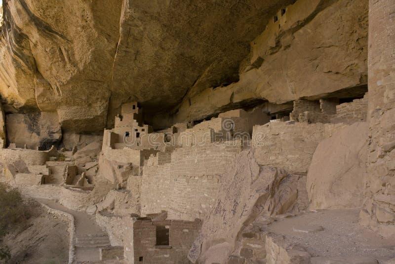 Palazzo della scogliera nella sosta nazionale di MESA Verde, Colorado immagine stock