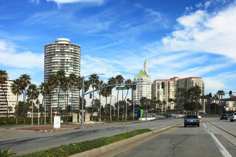 Palazzo della Villa Riviera di Long Beach in centro in California fotografia stock libera da diritti