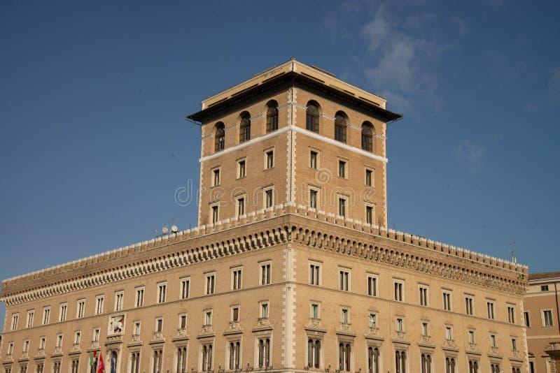 Palazzo delle Assicurazioni热内拉利罗马,意大利 免版税库存图片