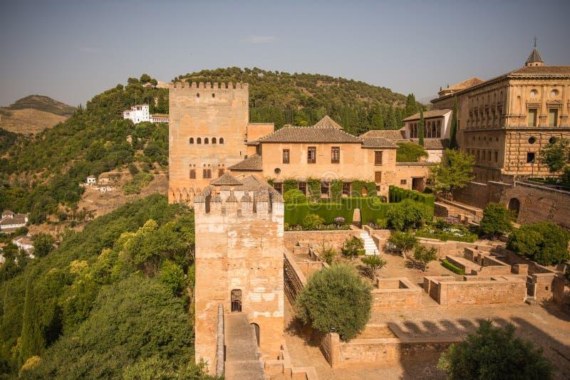 Palazzo di Alhambra immagini stock libere da diritti
