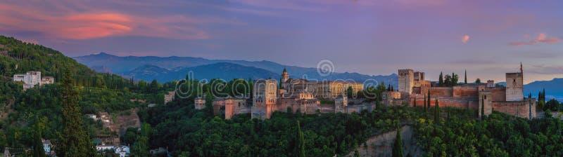 Palazzo di Alhambra a Granada, Spagna immagini stock libere da diritti