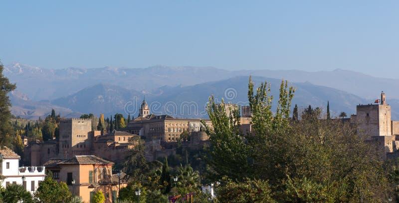 Palazzo di Alhambra a Granada spagna fotografie stock libere da diritti