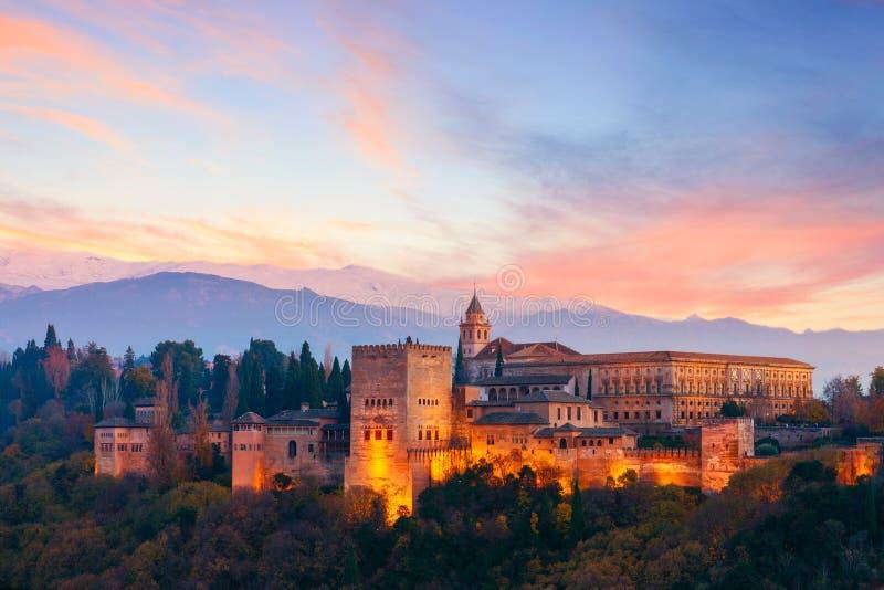 Palazzo di Alhambra, Granada, Spagna fotografia stock