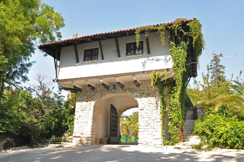 Palazzo di Balchik e giardino botanico fotografia stock libera da diritti